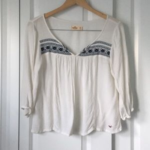 Tops - White Hollister Top